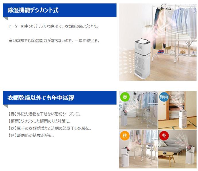 サーキュレーター衣類乾燥除湿機 デシカント式 Ddd 50e送料無料