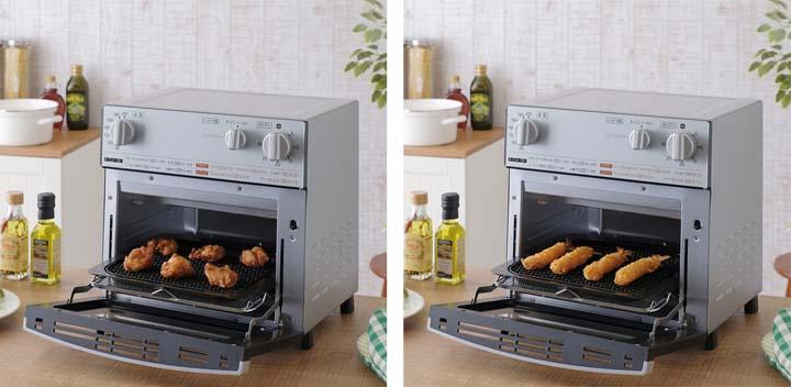オーブン ノンフライ熱風オーブン FVX-D3B-S あす楽対応 オーブントースター トースター 調理家電 キッチン家電 ごはん ヘルシー 揚げ物 脂質カット カロリーカット ノンフライヤー 脂質オフ カロリーオフ キッチン 新生活 一人暮らし おしゃれ アイリスオーヤマ
