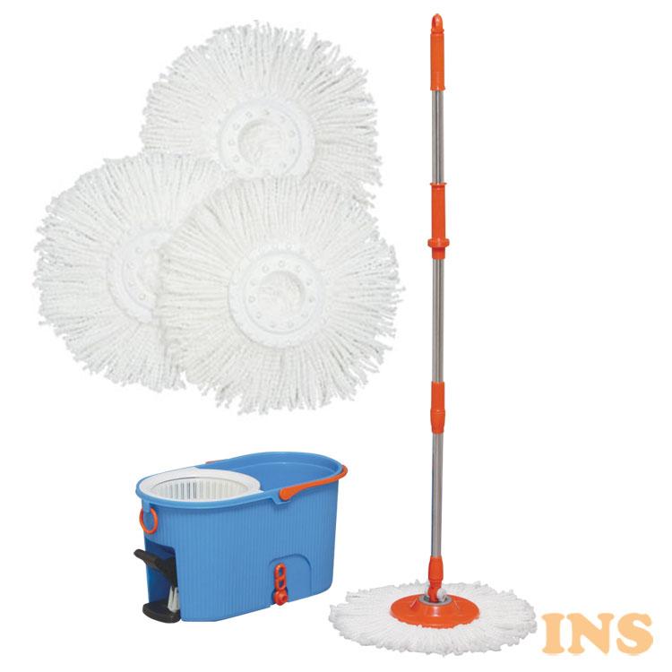 回転モップ洗浄付 KMO-540S 送料無料 クリーナー フロアモップ モップ モップがけ 水拭き 床掃除 清掃 清掃用品 掃除 アイリスオーヤマ