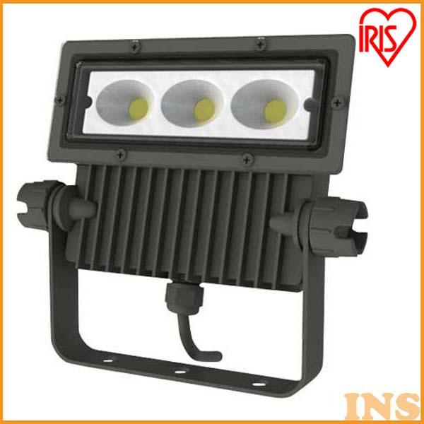 アイリスオーヤマ 屋外LED照明 角型投光器40W 3300lm IRLDSP40N-W-BK ブラック