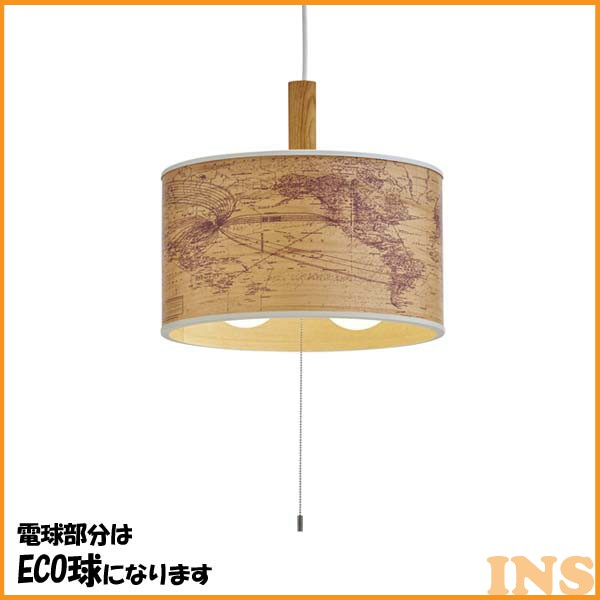 Jorden-wood- (ユーデン-ウッド-) 2灯ペンダントライト LT-9528 蛍光灯球【B】【TC】【NGL】(天井照明/デザイン照明/アンティーク)【送料無料】