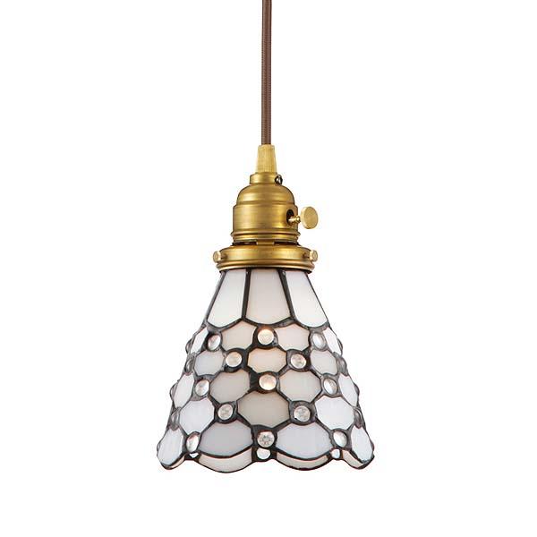 【B】【TC】ペンダントライト Stained glass-pendant Dots AW-0373V(ステンドグラス LED アンティーク ガラス レトロ 照明 ライト ペンダント LED おしゃれ)【送料無料】