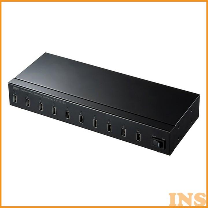 USB2.0 10ポートハブ USB-2HCS10 送料無料 ハブ USB タブレット ipad パソコン周辺機器 サンワサプライ 【TD】 【代引不可】