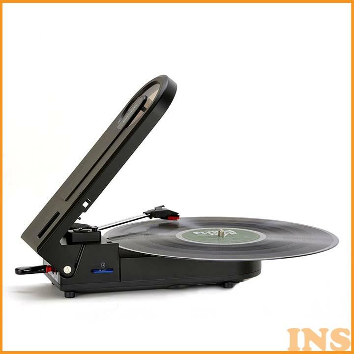 ポータブルレコードプレーヤー PT-208Eレコードプレイヤー オーディオ コンパクト 持ち運び とうしょう 【D】