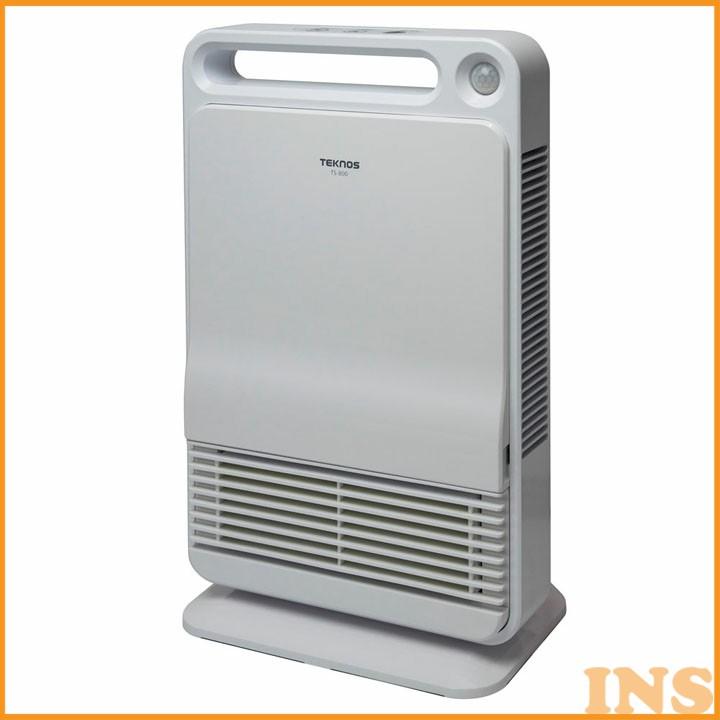人感センサー付きセラミックファンヒーター 800W 消臭フィルター ホワイト TS-800ヒーター ストーブ 電気ストーブ 暖房 センサー TEKNOS 【D】【B】