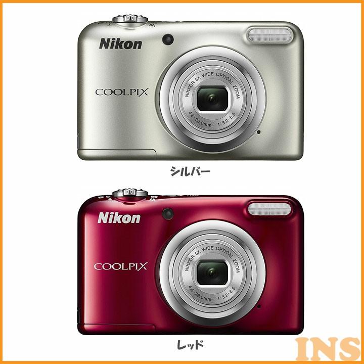 光学5倍 デジタルカメラ A10 送料無料 コンパクトデジタルカメラ COOLPIX クールピクス Nikon ニコン シルバー・レッド【D】