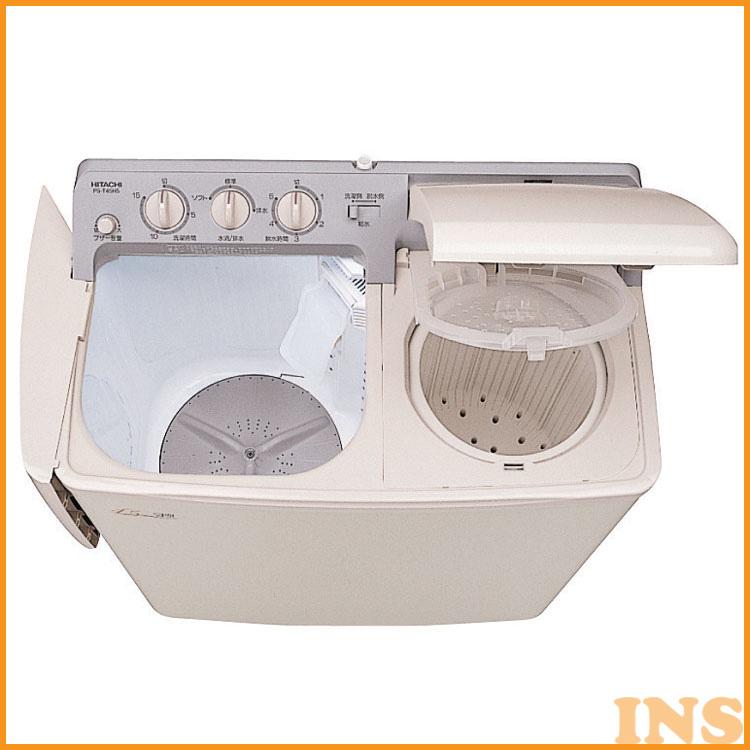 2槽式洗濯機4.5kg PS-H45L-CP 送料無料 洗濯機 4.5kg 2槽式洗濯機 プラスチック脱水槽 お知らせブザー 大型脱水槽 一人暮らし 糸くず捕集 日立【D】