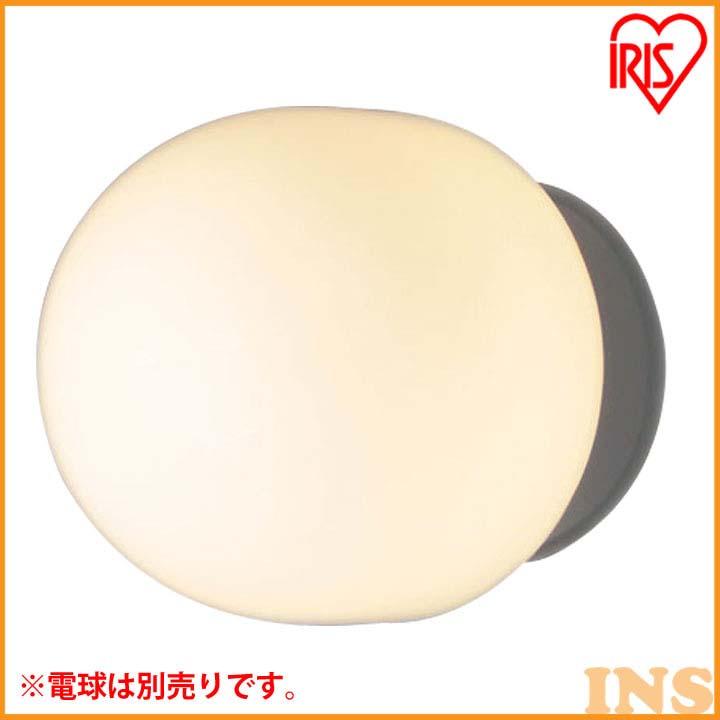 LEDブラケット 丸 乳白/シルバー PEG-E17S【LED LEDライト LED照明 壁面照明 ブラケット 屋外】 アイリスオーヤマ