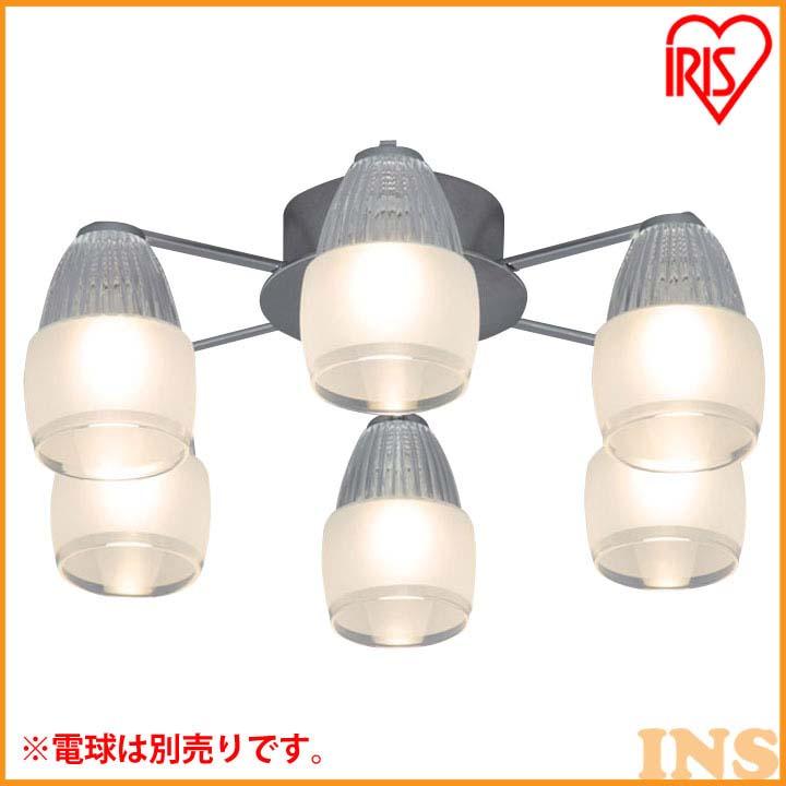 シャンデリア エイス 6灯 SHIS-6E17【LED LEDライト LED照明 天井照明 シャンデリア おしゃれ】 アイリスオーヤマ