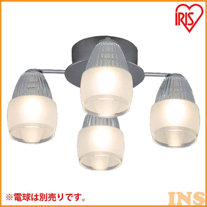 シャンデリア エイス 4灯 SHIS-4E17【LED LEDライト LED照明 天井照明 シャンデリア おしゃれ】 アイリスオーヤマ