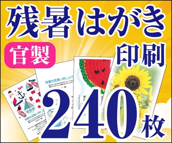 【残暑はがき印刷】【240枚】【かもめーる】【フルカラー】【レターパック360無料】