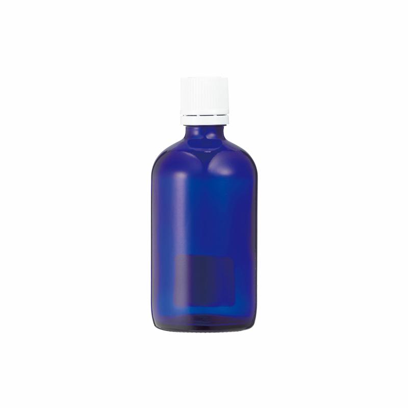 生活の木 青色ガラス瓶 100ml