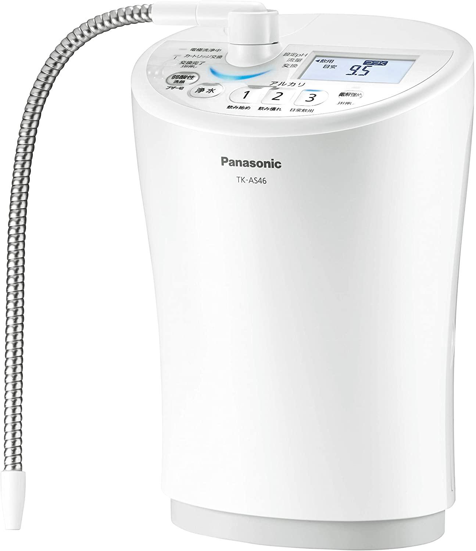 パナソニック 整水器 浄水 電解水素水 アルカリイオン水 弱酸性水 TK-AS46-W ホワイト 送料無料