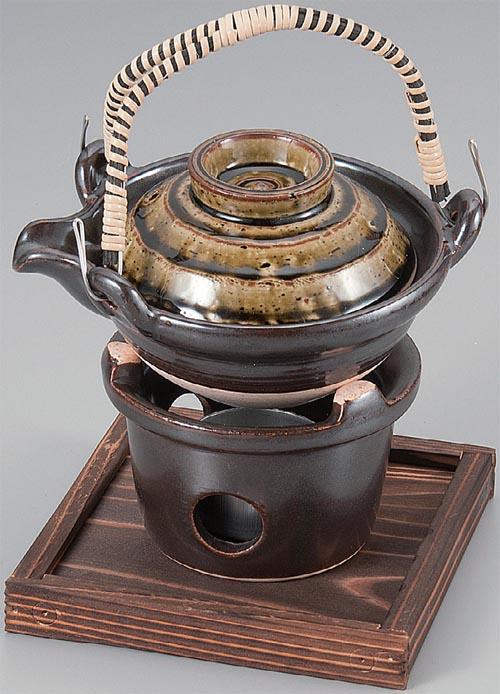 黒茶織部土瓶蒸し セット