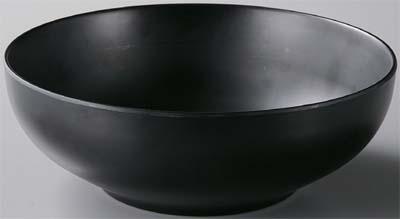 どんぶり雅腰張麺鉢 黒マット φ21.5