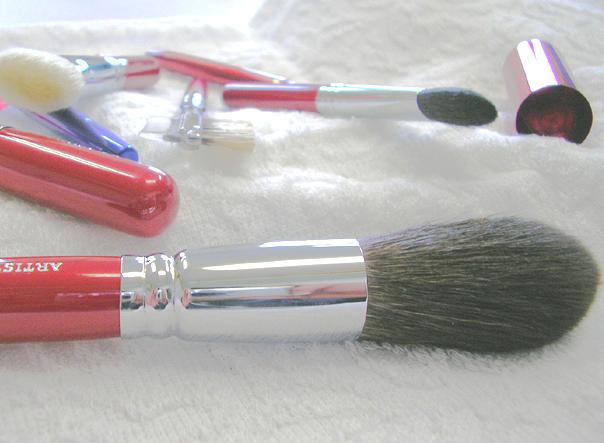 【ネコポス便対応】パウダーブラシ 丸 RE20-1-CHIKUHODO-化粧筆 熊野