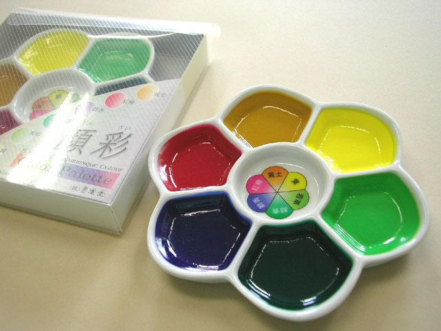 ふるさと割 基本的な色をセットしました 顔彩 ColorPalette 梅皿 5☆好評