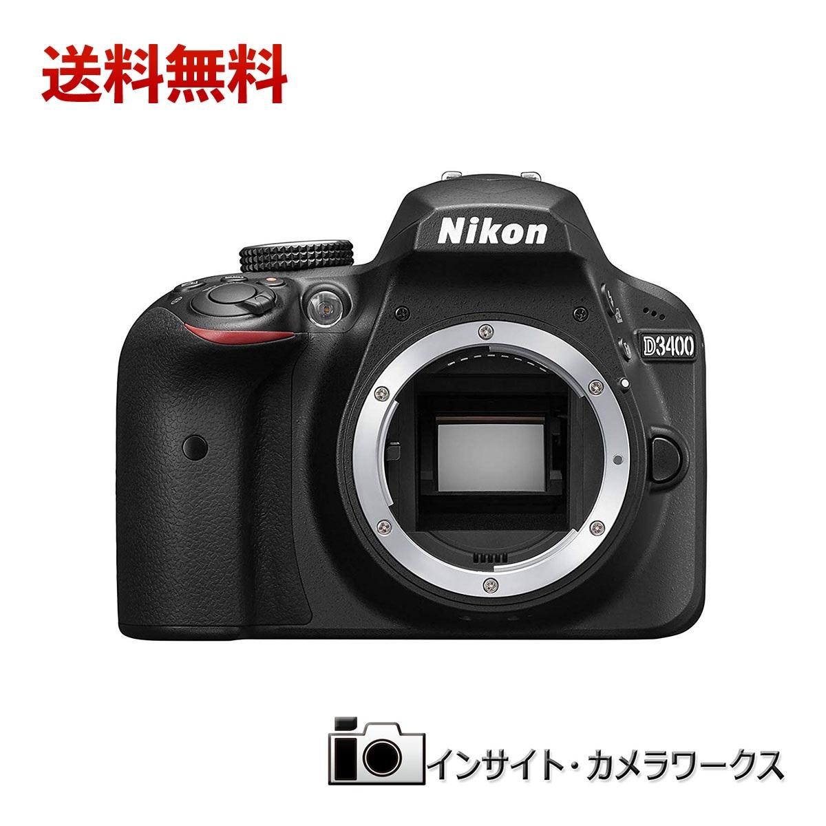【特別価格】Nikon デジタル一眼レフカメラ D3400 ボディ ブラック D3400BK ニコン