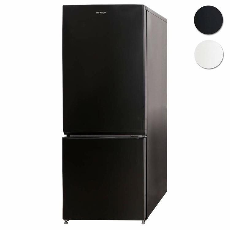 ノンフロン冷凍冷蔵庫 156L ブラック NRSD-16A-B送料無料 ノンフロン冷凍冷蔵庫 156L ホワイト 2ドア 右開き 冷凍庫 一人暮らし ひとり暮らし 単身 黒 シンプル コンパクト 小型 省エネ 節電 アイリスオーヤマ