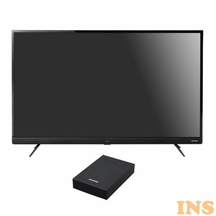 4Kテレビ 43型 音声操作 外付けHDDセット品 送料無料 テレビ HDD セット TV 4K 音声操作 43型 外付け ハードディスク アイリスオーヤマ