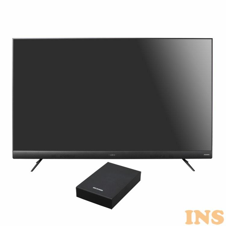 4Kテレビ 55型 音声操作 外付けHDDセット品 送料無料 テレビ HDD セット TV 4K 音声操作 55型 外付け ハードディスク アイリスオーヤマ