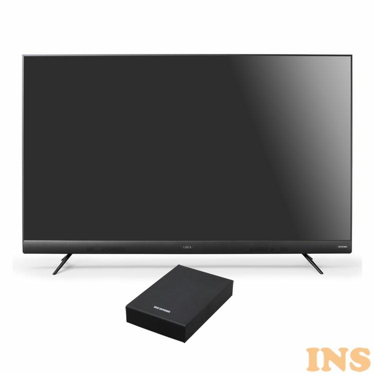 テレビ HDD セット TV 4K フロントスピーカー 55型 外付け ハードディスク アイリスオーヤマ 4Kテレビ フロントスピーカー 55型 外付けHDDセット品 送料無料 テレビ HDD セット TV 4K フロントスピーカー 55型 外付け ハードディスク アイリスオーヤマ