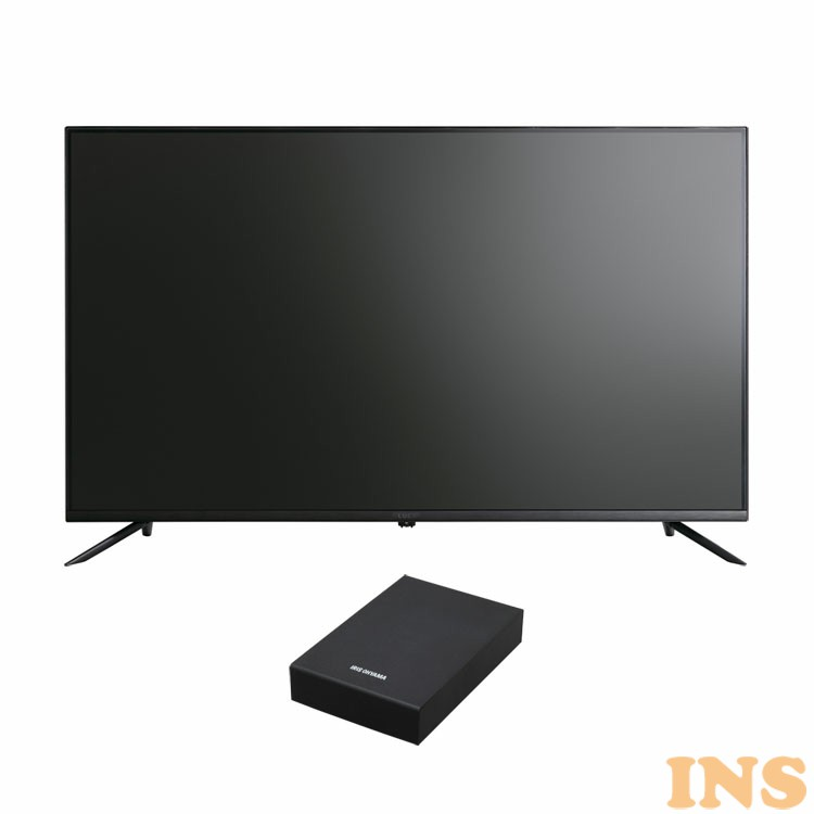 4Kテレビ ベゼルレスK 43型 外付けHDDセット品 送料無料 テレビ HDD セット TV 4K 43V 43型 外付け ハードディスク アイリスオーヤマ