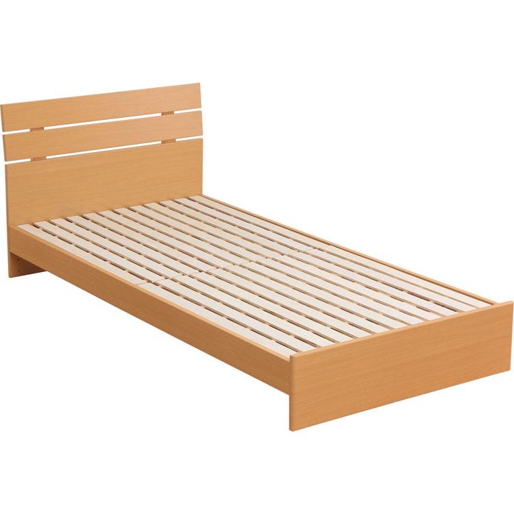 ベッド シングル すのこベッド ヘッドボード付木製ベッドS RXF015S 送料無料 ベッドフレーム 寝具 シングル シングルサイズ ウッド すのこベッド スノコベッド シンプル 快適 ナチュラル ブラウン【D】 一人暮らし 家具 新生活