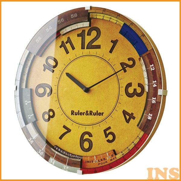 ≪送料無料≫掛け時計 Ruler&Ruler ルーラールーラー CL-9584 【TC】(掛時計/時計/掛け時計/おしゃれ/北欧/アンティーク/かわいい/クロック/北欧) 一人暮らし 家具 新生活