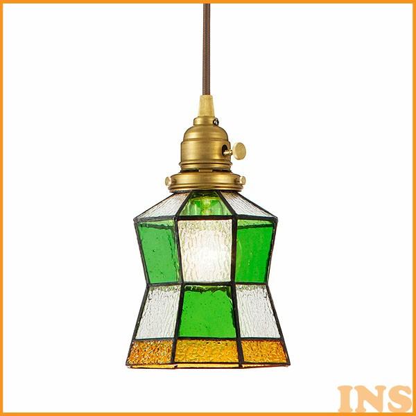 ≪送料無料≫【B】【TC】ペンダントライト Stained glass-pendant Helm AW-0372V(ステンドグラス LED アンティーク ガラス 照明 ライト レトロ ペンダント LED おしゃれ) 一人暮らし 家具 新生活
