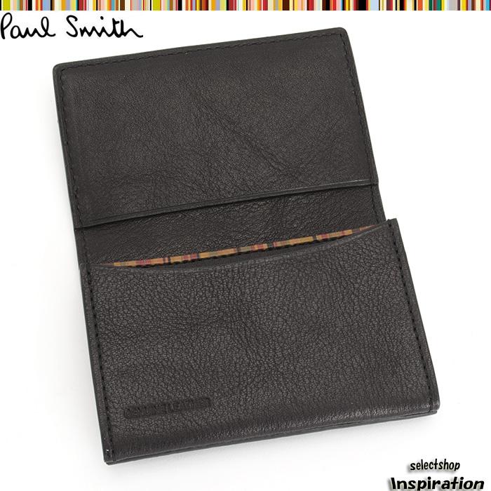 <クーポン配布中>ポールスミス 名刺入れ カードケース Paul Smith 黒 psy563-10 ブラック メンズ 紳士