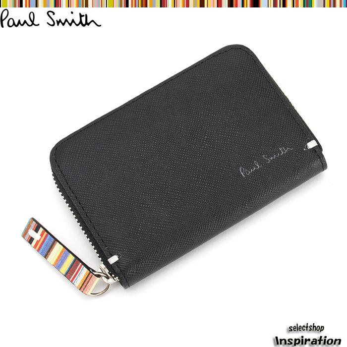 展示品箱なし ポールスミス 財布 小銭入れ コインケース 黒 Paul Smith psk860-10 ブラック メンズ 紳士