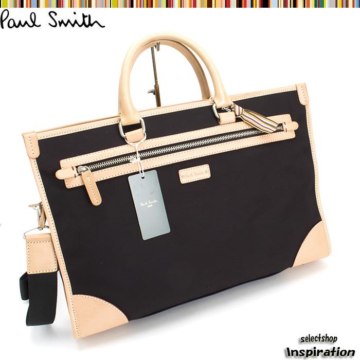 <クーポン配布中>ポールスミス バッグ ビジネスバッグ 2wayバッグ 黒 Paul Smith pst740-10 ブラック メンズ 紳士