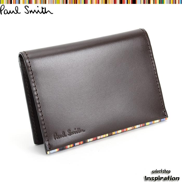 <クーポン配布中>ポールスミス Paul Smith パスケース 定期入れ カードケース 茶 psu053-70 ブラウン メンズ 紳士