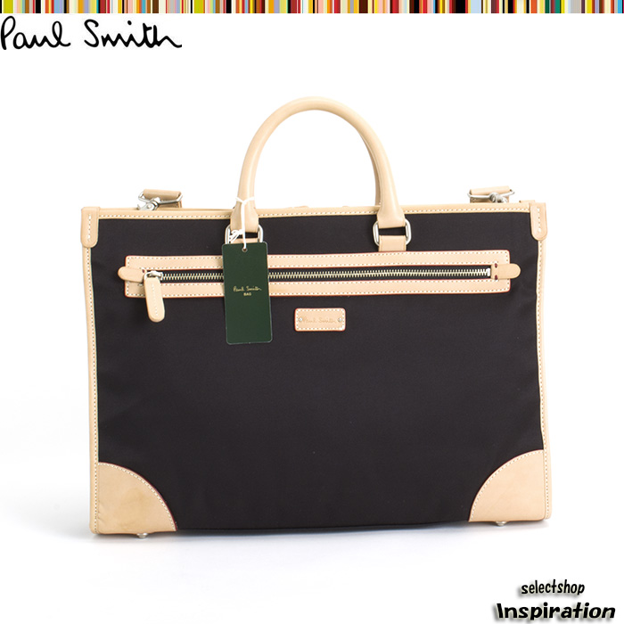 <クーポン配布中>ポールスミス バッグ ビジネスバッグ ポールスミス 2wayバッグ 黒 Paul Smith pst741-10 ブラック メンズ 紳士