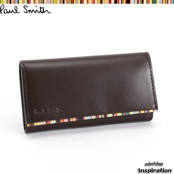 <クーポン配布中>ポールスミス Paul Smith キーケース 茶 psu052-70 ブラウン メンズ 紳士