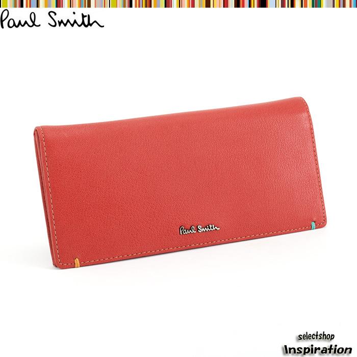 <クーポン配布中>ポールスミス Paul Smith 財布 長財布 赤 psu756-20 レッド メンズ 紳士