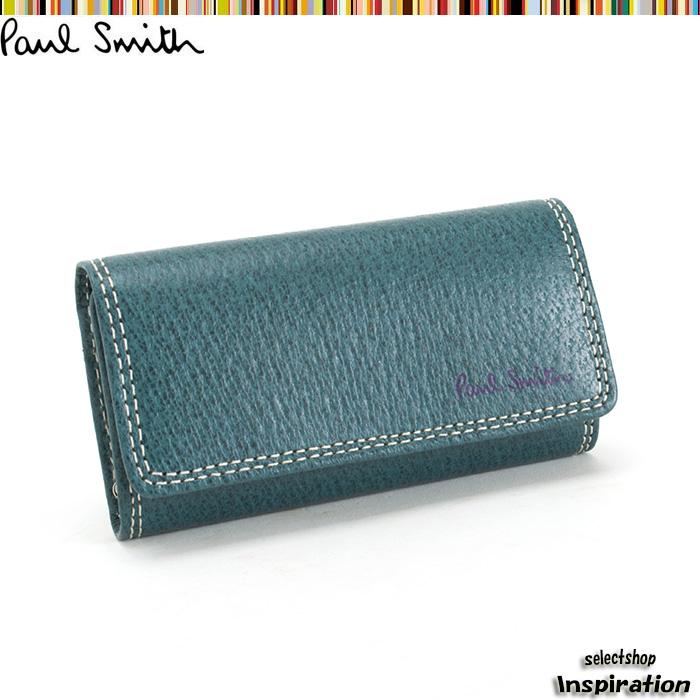 <クーポン配布中>ポールスミス キーケース ターコイズ Paul Smith psp614-37 ブランド メンズ 紳士