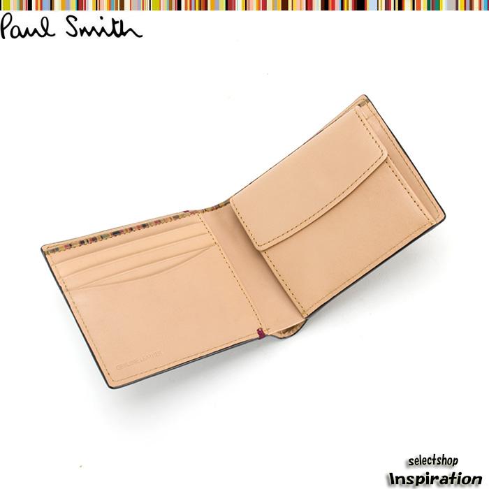 展示品箱なし ポールスミス 財布 二つ折り財布 黒 Paul Smith psu874-10 b ブランド メンズ 紳士