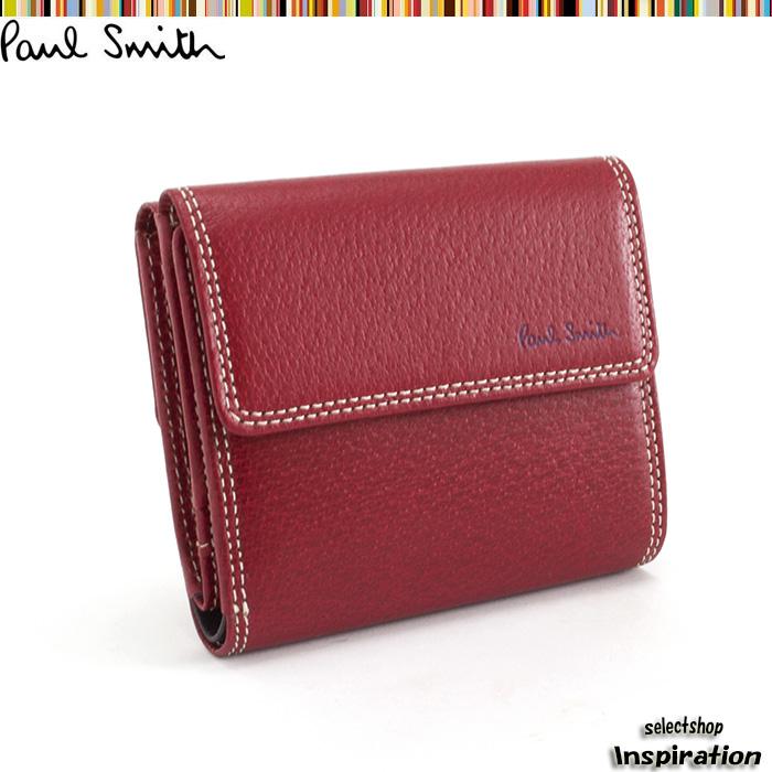 <クーポン配布中>ポールスミス Paul Smith 財布 二つ折り財布 赤 psp618-20 メンズ 紳士