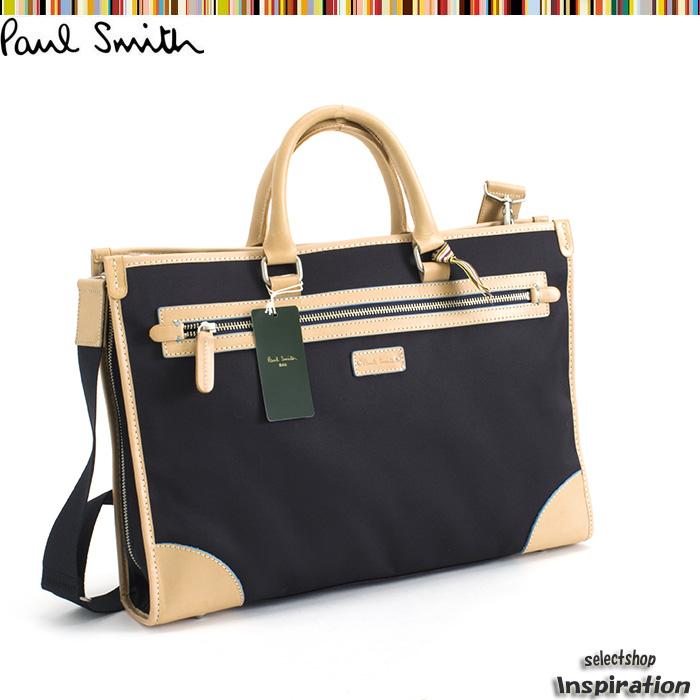 <クーポン配布中>訳あり ポールスミス バッグ ビジネスバッグ 2wayバッグ 紺 Paul Smith pst741-30 b メンズ 紳士
