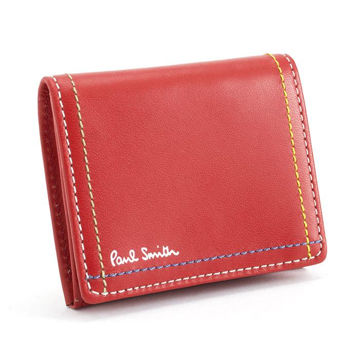 <クーポン配布中>ポールスミス 財布 小銭入れ コインケース 赤 Paul Smith psk702-20 ブランド メンズ 紳士
