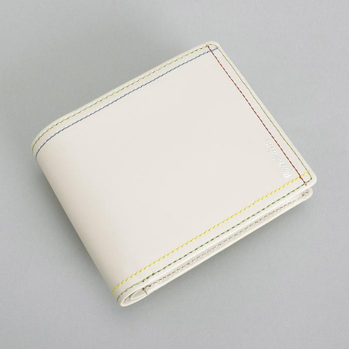 <クーポン配布中>ポールスミス Paul Smith 財布 二つ折り財布 アイボリー psk707-63 メンズ 紳士
