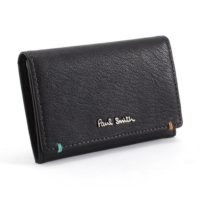 <クーポン配布中>ポールスミス Paul Smith 名刺入れ カードケース 黒 psu753-10 メンズ 紳士