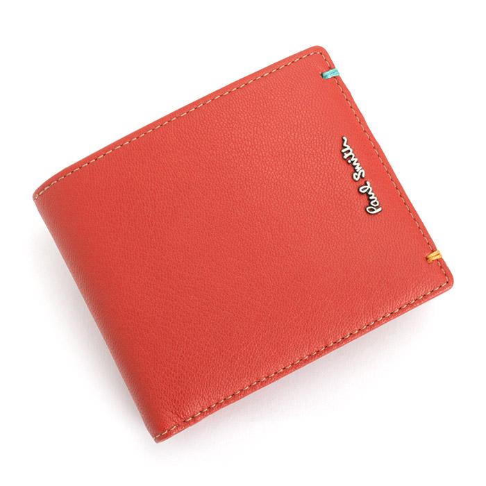 <クーポン配布中>ポールスミス Paul Smith 財布 二つ折り財布 レッド psu755-20 メンズ 紳士