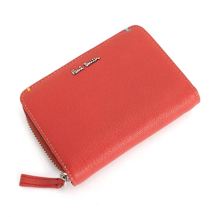 <クーポン配布中>ポールスミス Paul Smith 財布 二つ折り財布 レッド psu757-20 メンズ 紳士