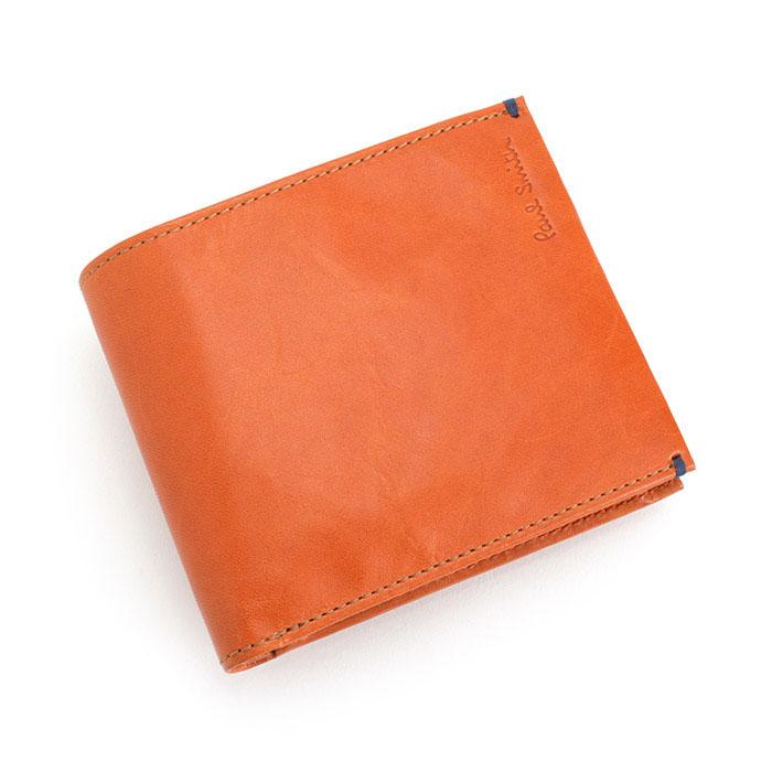 cd6cbae70da1 クーポン配布中>展示品箱なし ポールスミス 財布 二つ折り財布 オレンジ ...