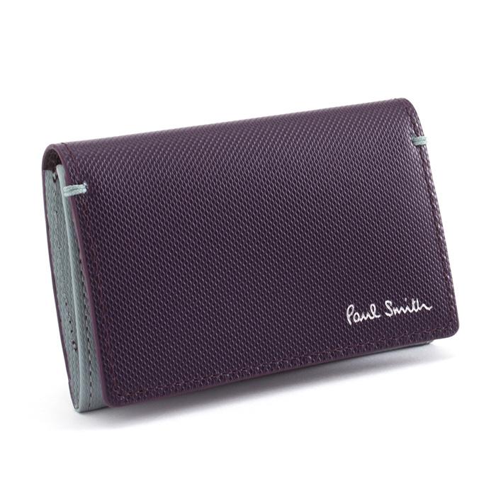 展示品箱なし ポールスミス 名刺入れ カードケース パープル Paul Smith psu934-34 メンズ 紳士