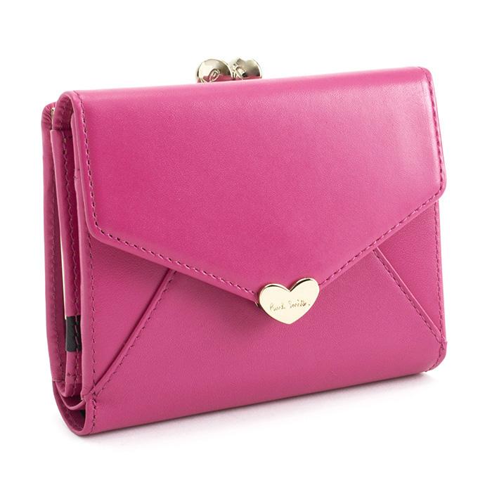 <クーポン配布中>ポールスミス 財布 二つ折り財布 がま口財布 ピンク Paul Smith pwu926-24 レディース 婦人