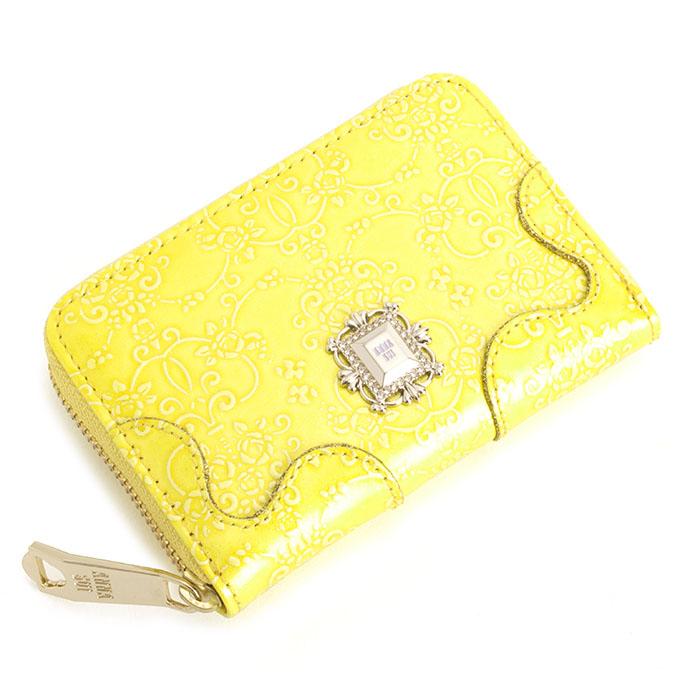 <クーポン配布中>アナスイ 財布 小銭入れ コインケース ラウンドファスナー 黄色 ANNA SUI 310493-60 レディース 婦人